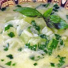 Літній суп з кабачків
