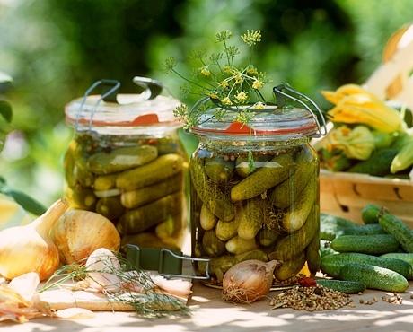 Рецепт приготування малосольних огірків у власному соку.