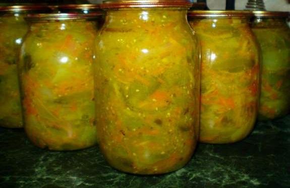 Зимовий салат із зелених помідорів без стерилізації – як приготувати смачні зелені помідори на зиму.