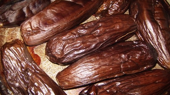 Печені баклажани на зиму – проста заготовка з баклажанів для зимового салату або ікри.