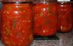 Салат з помідорів і овочів на зиму – простий рецепт смачної заготовки салату з свіжих овочів.