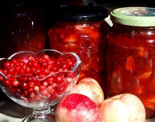 Варення з брусниці з яблуками на зиму – простий рецепт як зварити брусничне варення з яблуками.