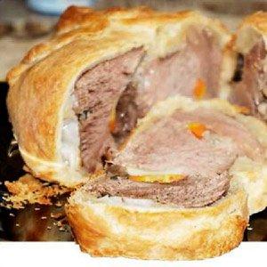 Окіст запечений в тісті в духовці – рецепт як запекти солоний свинячий окіст.