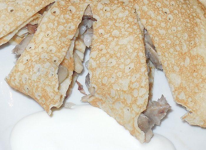 Смачні млинці на пиві без молока – простий рецепт з фото як приготувати млинці з грибами