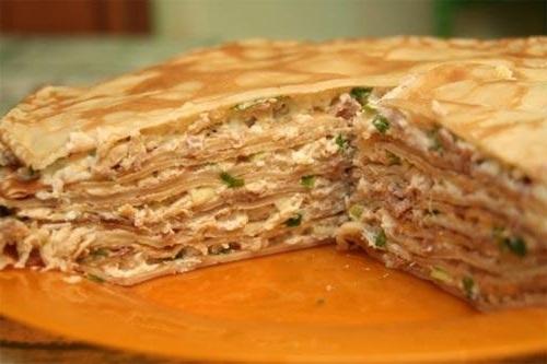 Рецепт млинцевого пирога з м'ясом – приготування млинців, начинки і випічка пирога