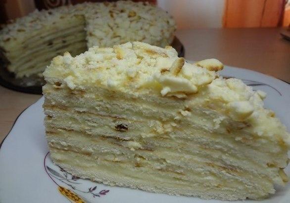 Торт Хвилинка зі згущонкою - швидкий торт на сковороді