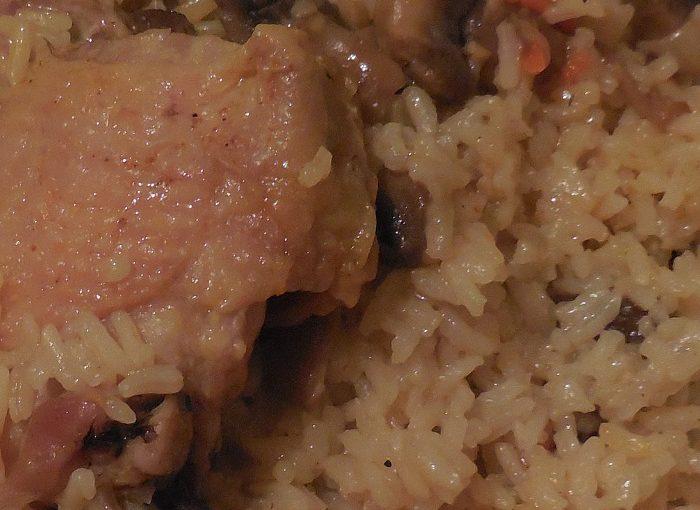 Рис з куркою і грибами в мультиварці або як готувати плов в мультиварці