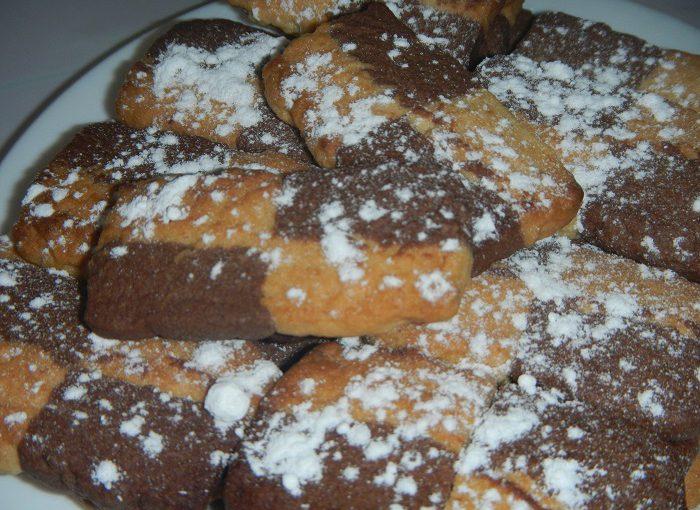 Французьке печиво Шаблі – смачне двокольорове пісочне печиво
