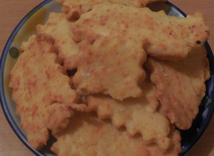 Солоне печиво з сиром в духовці