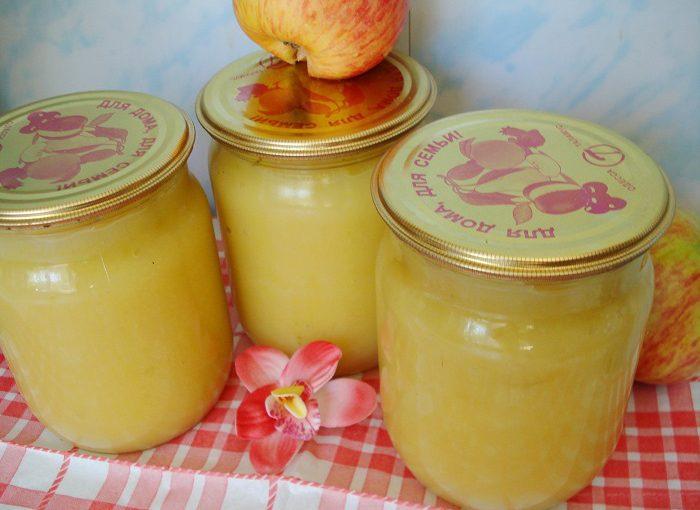 Домашнє яблучне пюре зі згущеним молоком на зиму без стерилізації