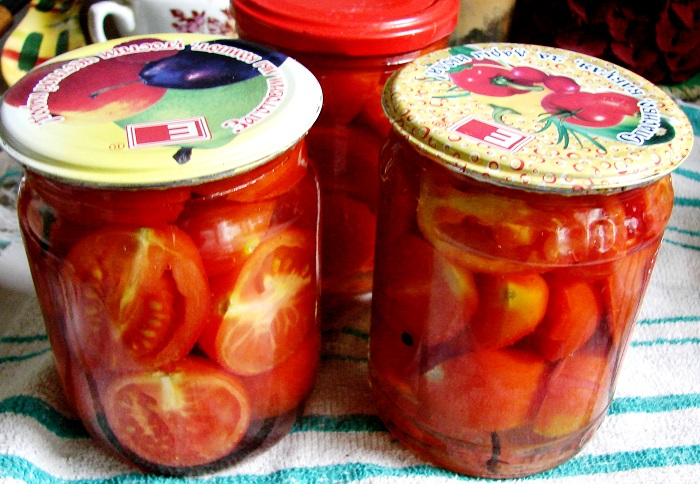 Простий рецепт помідорів в желатині з фото (часточками)
