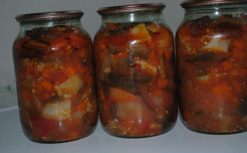 Баклажани в томаті – рецепт приготування заготовки на зиму без стерилізації