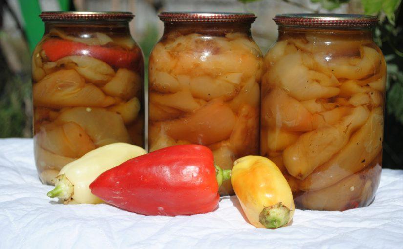 Болгарський перець, смажений з часником на зиму без стерилізації