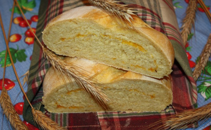 Дріжджовий хліб з гарбуза в духовці