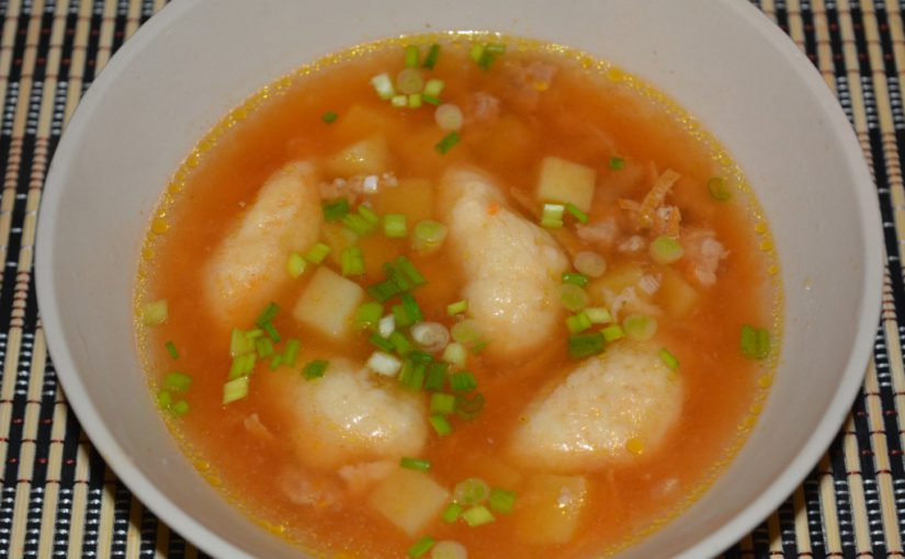 М'ясний суп з фаршем і галушками