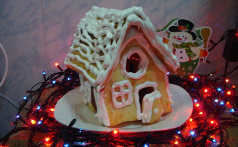 Різдвяний будиночок з пряників із сирного тіста робимо своїми руками