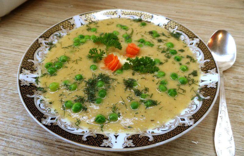"""Гарбузовий суп-пюре з вершками і м'ясом курки """"Золотистий"""""""