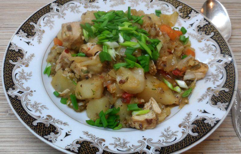 Страва дімлама по-татарськи – смачні тушковані овочі з м'ясом в мультиварці