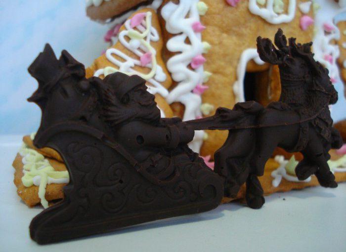 Новорічні прикраси з шоколаду своїми руками