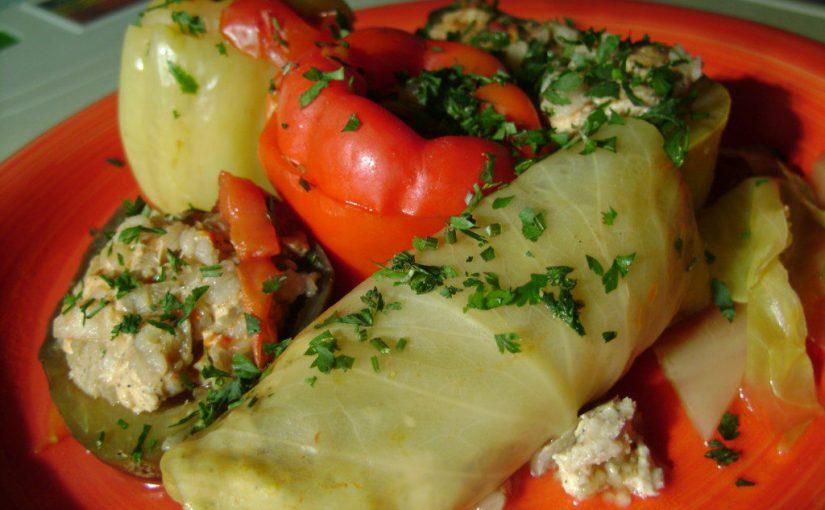 Фаршировані овочі – всі в одній каструлі