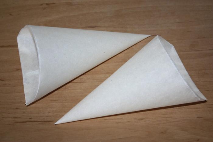Корнетик з пергаменту – як зробити своїми руками кондитерський мішок з паперу