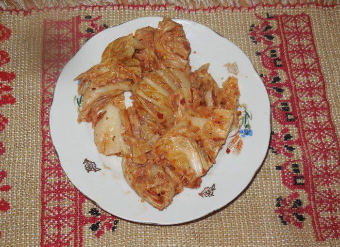Домашня кімчі з пекінської капусти – смачний салат по-корейськи з капусти