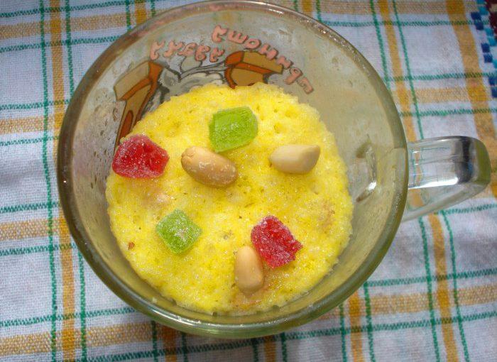 Швидкий кекс в чашці в мікрохвильовці за 5 хвилин