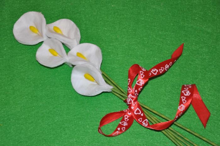 Красиві квіти з ватних дисків своїми руками