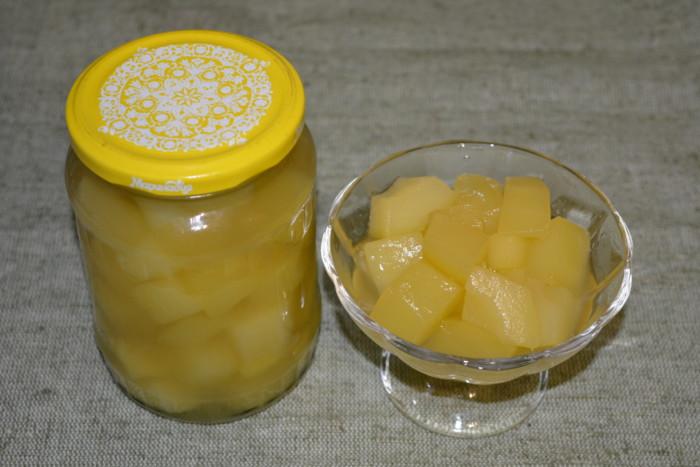 Консервовані кабачки як ананаси на зиму