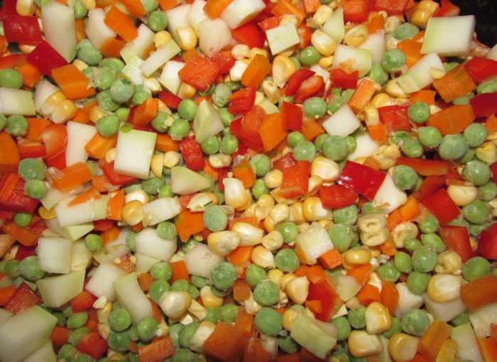 Мексиканська овочева суміш заморожена на зиму