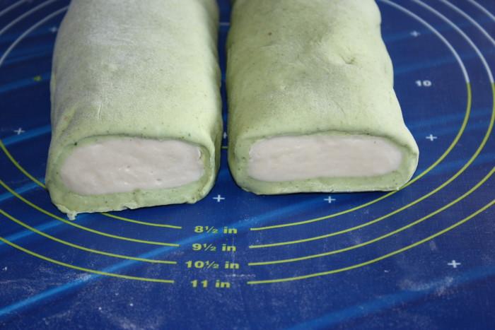 Двоколірне тісто на манти, хінкалі, вареники і пельмені в хлібопічці – зелене та класичне