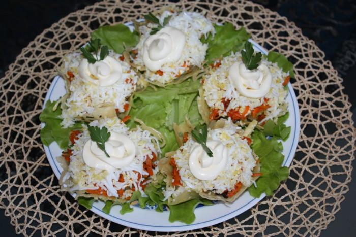 Як зробити сирні кошики для салата – смачні салати в сирних кошиках-тарталетках