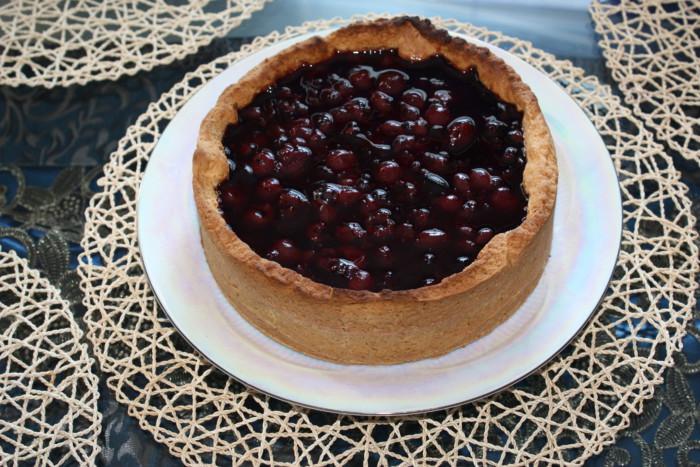 Домашній віденський пиріг з вишнею в желе – пісочний тарт