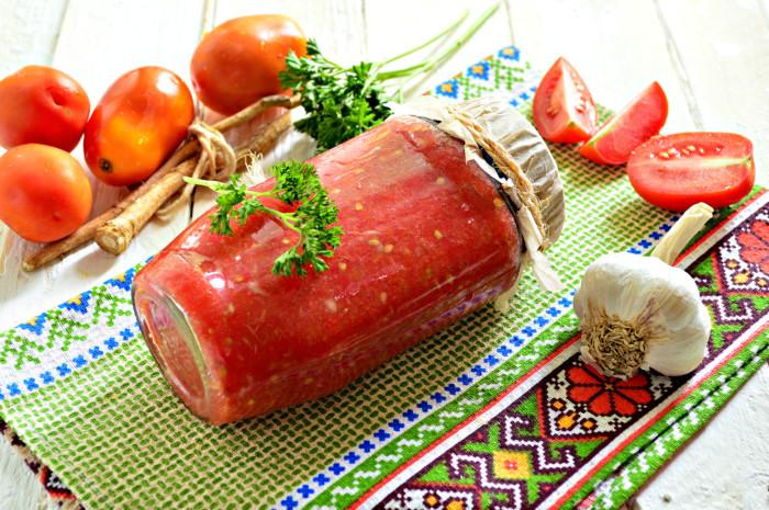 Хрінодер із помідорами та часником