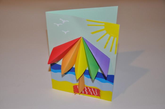 Літня 3D листівка з паперу своїми руками