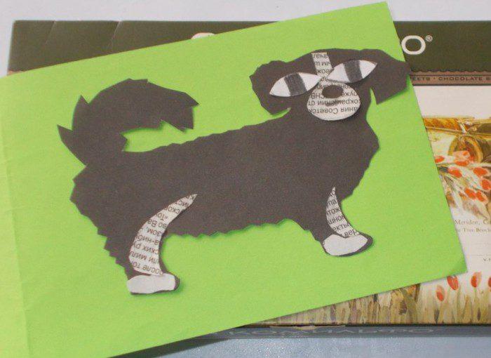 Аплікація собака з паперу – символ року своїми руками
