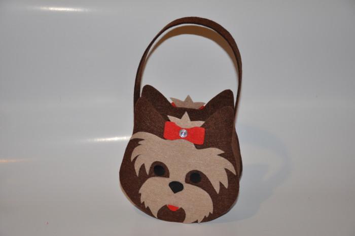 Новорічна сумочка з фетру своїми руками – Йоркширський тер'єр