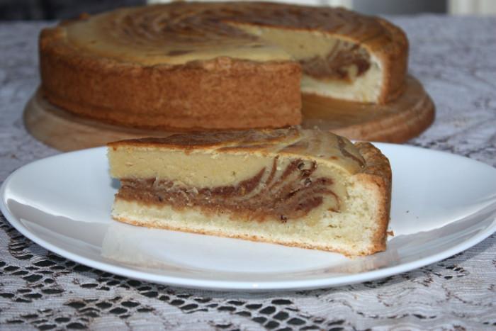 Італійський пиріг Зебра на пісочній основі