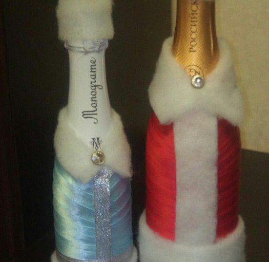 Новорічне шампанське – декор новорічного шампанського своїми руками