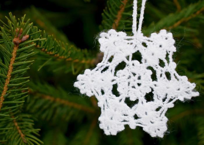 Сніжинка гачком – проста і красива, новорічні в'язані сніжинки для початківців