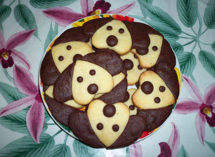 Пісочне новорічне печиво-собачки