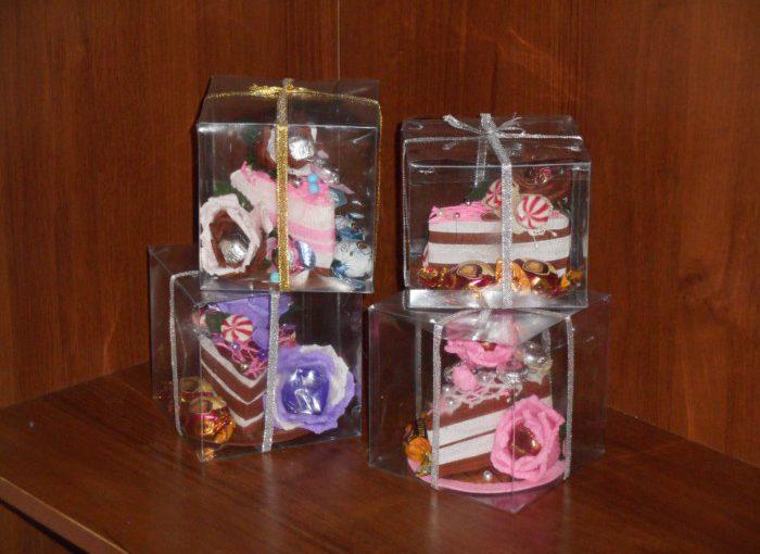 Шматочок торта з паперу – упаковка для цукерок своїми руками