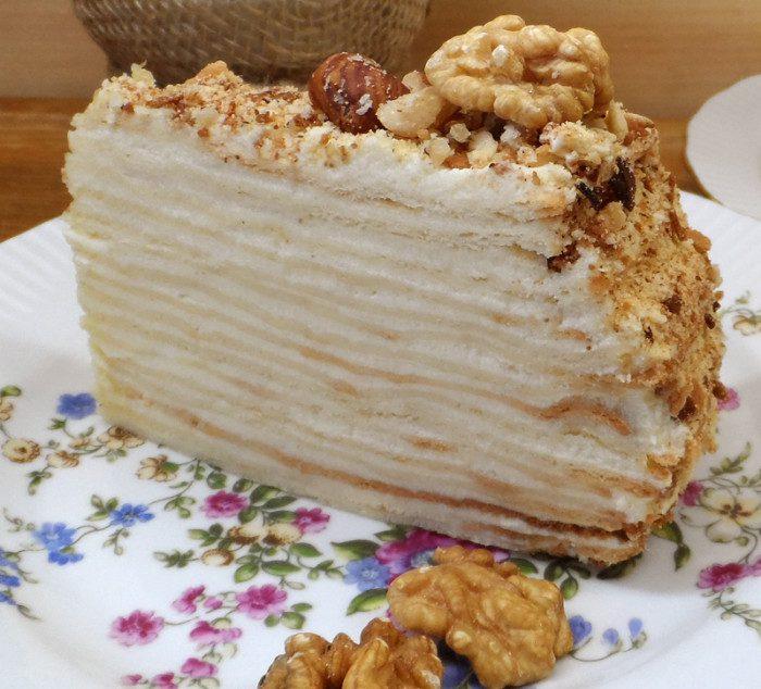 Класичний торт Наполеон - старий бабусин рецепт Наполеона з радянських часів