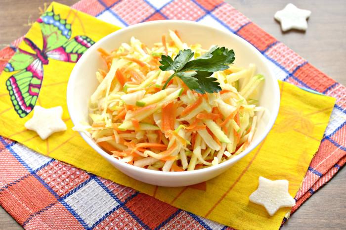 Салат з дайкона з морквою без майонезу – смачний овочевий салат з рослинною олією