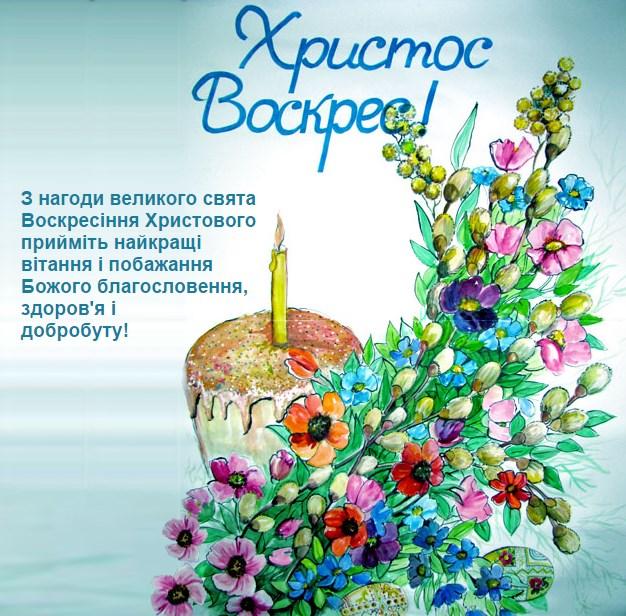 Листівки-привітання з Великоднем
