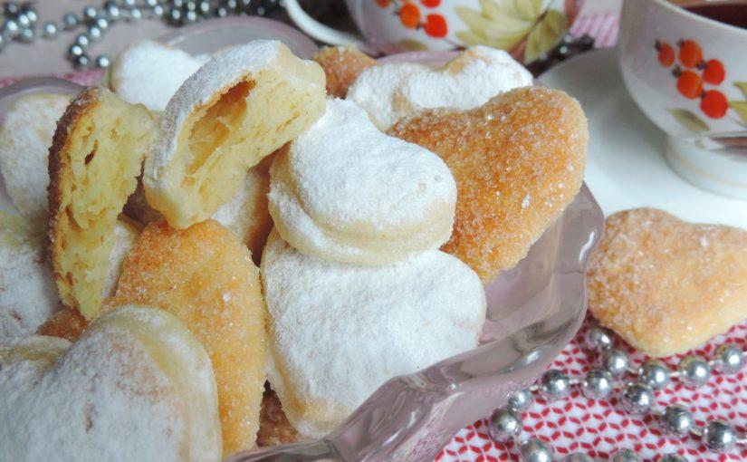 Печиво з листкового дріжджового тіста швидкого приготування