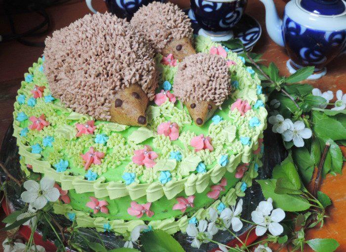 Домашній торт Їжачки – дитячий торт на день народження