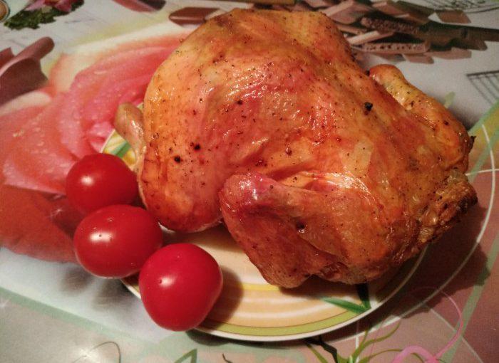 Курка на банці в духовці запечена цілою – смачна гаряча закуска