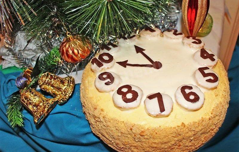 Торт Новорічний годинник – прості рецепти та ідеї оформлення