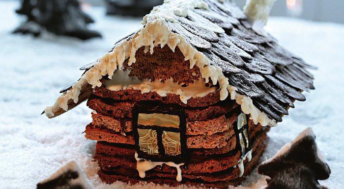 Торт Новорічний будиночок - казковий, красивий і смачний